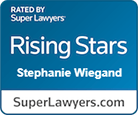 Rated by Super Lawyers, Rising Stars Stephanie Wiegand