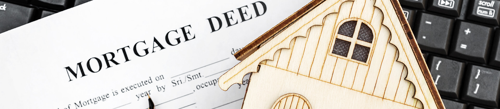 Mortgage deed paperwork